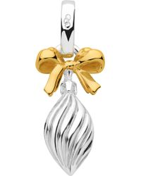 Links of London - Sterling Silver And 18ct Gold Vermeil Drop Bauble Charm - Lyst