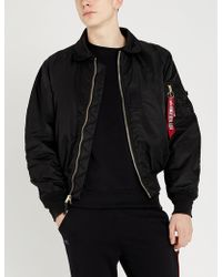 Alpha Industries - Appliquéd Cotton-jersey Sweatshirt - Lyst