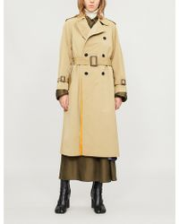 Toga - Double-breasted Woven Trench Coat - Lyst