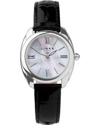 Links of London - Bloomsbury Stainless Steel, Mother-of-pearl And Leather Watch - Lyst