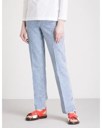 Toga - Striped Regular-fit Straight High-rise Jeans - Lyst
