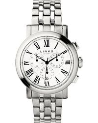 Links of London - Richmond Stainless Steel White Dial Watch - Lyst