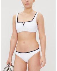 Heidi Klein - Salina Contrast Trim Bikini Top - Lyst