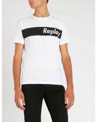 Replay - Logo-print Cotton-jersey T-shirt - Lyst