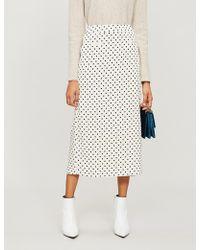 Rejina Pyo - Mina Polka Dot-print Crepe Midi Skirt - Lyst