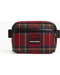 Marc Jacobs - Ladies Red Tartan Check Practical Print Sport Belt Bag - Lyst