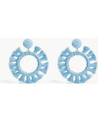 BaubleBar - Adrita Tasselled Hoop Earrings - Lyst