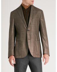 Corneliani - Id Regular-fit Silk Cashmere And Suede Jacket - Lyst