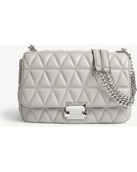 4c6cc65d837d MICHAEL Michael Kors - Michael Kors Ladies Pearl Grey Timeless Sloan  Quilted Shoulder Bag - Lyst