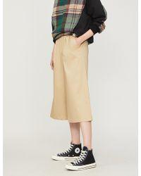 5cm - Wide-leg Stretch-cotton Trousers - Lyst