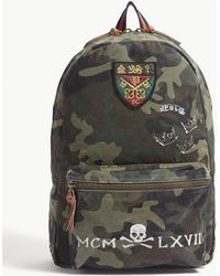 7a0604a503cb Lyst - Polo Ralph Lauren Logo Camouflage Backpack in Black for Men