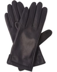Sandro - Braided Leather Gloves - Lyst