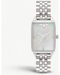 Olivia Burton - Ob16bh03 Bee Hive Silver And Mother-of-pearl Watch - Lyst