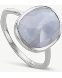 Monica Vinader - Siren Sterling Silver And Lace Agate Medium Ring - Lyst