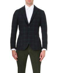 Slowear - Checked Single-breasted Wool-blend Jacket - Lyst