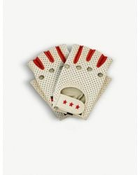 Tommy Hilfiger - X Gigi Hadid Perforated Leather Racing Gloves - Lyst
