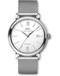 Iwc - Iw356505 Portofino Stainless Steel Watch - Lyst