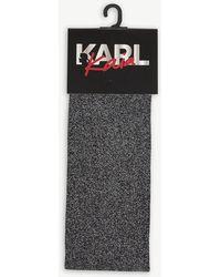 Karl Lagerfeld - Karl Lagerfeld X Kaia Metallic Knitted Knee-high Socks - Lyst