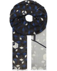 Eton of Sweden - Geometric Modal And Wool-blend Scarf - Lyst