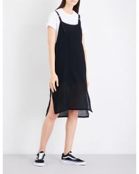 5cm - Overlay Cotton-jersey And Woven Dress - Lyst