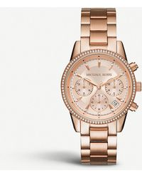 Michael Kors - Mk6357 Ritz Crystal-encrusted Stainless Steel Watch - Lyst