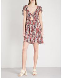 Free People - Miss Right V-neck Floral-print Woven Dress - Lyst