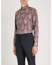 Etro - Moroccan Paisley-print Regular-fit Stretch-cotton Shirt - Lyst