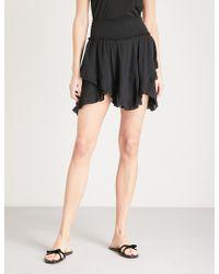 Free People - Tiered Asymmetric Jersey Mini Skirt - Lyst