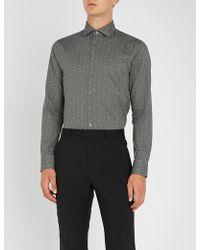 Smyth & Gibson - Floral-print Slim-fit Cotton-poplin Shirt - Lyst