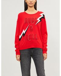 Zadig & Voltaire - Rock & Roll Embellished Intarsia-wool Jumper - Lyst