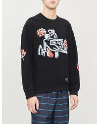 KENZO - Memento Cotton And Wool-blend Sweatshirt - Lyst