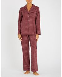YOLKE - Paisley-print Cotton Pyjama Set - Lyst