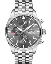 Iwc - Iw377719 Pilot Spitfire Stainless Steel Watch - Lyst