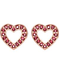 Thomas Sabo - Glam & Soul Heart 18ct Rose Gold-plated Earrings - Lyst