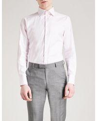 Thomas Pink - Brompton Checked Slim-fit Cotton Shirt - Lyst