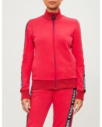 Fendi - Logo-tape Jersey Jacket - Lyst