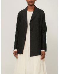 Aganovich - Pleated Back Linen Jacket - Lyst