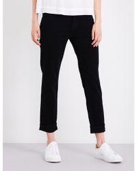 J Brand   Ladies Concealed Zip Johnny Boyfriend Mid-rise Jeans   Lyst