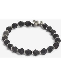 M. Cohen - Frosted Onyx And Sterling Silver Bracelet - Lyst