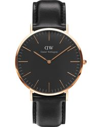 Daniel Wellington - Classic Sheffield Rose Gold Watch - Lyst