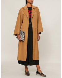 Loewe - Oversized Wool And Cashmere-blend Coat - Lyst