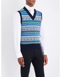 Burberry - Fair Isle Wool-blend Vest - Lyst