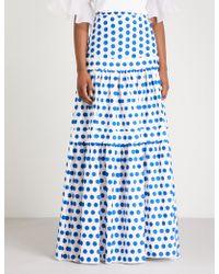 Alexis - Adie Dot-print Maxi Skirt - Lyst