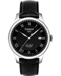 Tissot - T0064071605300 Le Locle Stainless Steel Automatic And Leather Strap Watch - Lyst