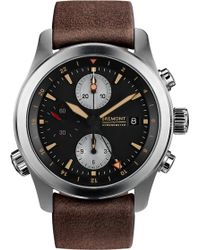 Bremont - Alt1-zt/51 Stainless Steel And Leather Chronograph Watch - Lyst