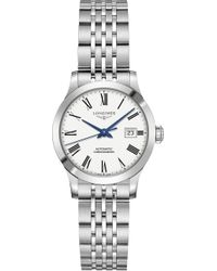 Longines - L23214116 Record Automatic Stainless Steel Watch - Lyst