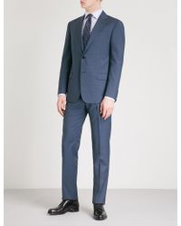 Emporio Armani   Micro-check Regular-fit Wool Suit   Lyst