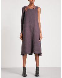 Cherevichkiotvichki - Sarafan Removable-panel Linen Dress - Lyst