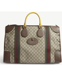 Gucci - Brown Stripe Vintage Gg Supreme Canvas Duffle Bag - Lyst