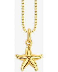 Thomas Sabo - Glam & Soul Starfish 18ct Gold-plated Necklace - Lyst
